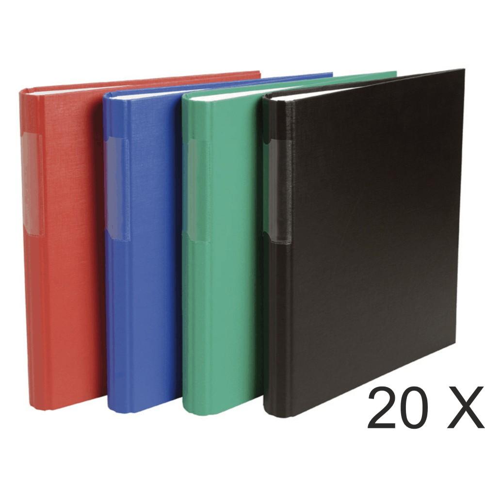 Exacompta - 20 Classeurs 2 anneaux - Dos 40 mm - A4 - disponible dans différentes couleurs