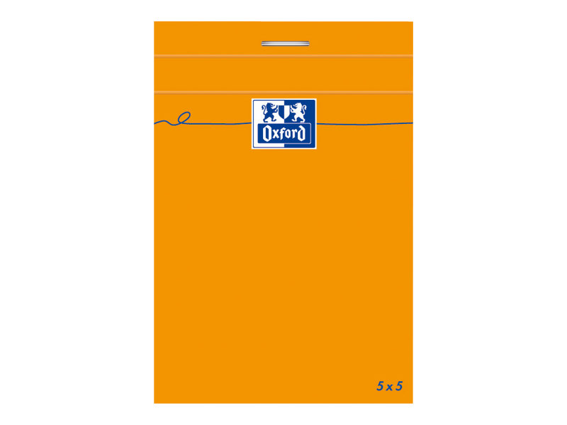 OXFORD - Bloc notes - 7,4 x 10,5 cm - 160 pages - petits carreaux - 80G - orange