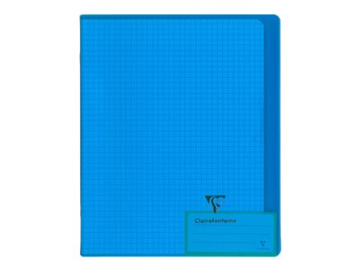 Clairefontaine Koverbook - Cahier polypro 17 x 22 cm - 96 pages - petits carreaux (5x5 mm) - disponible dans différentes couleurs