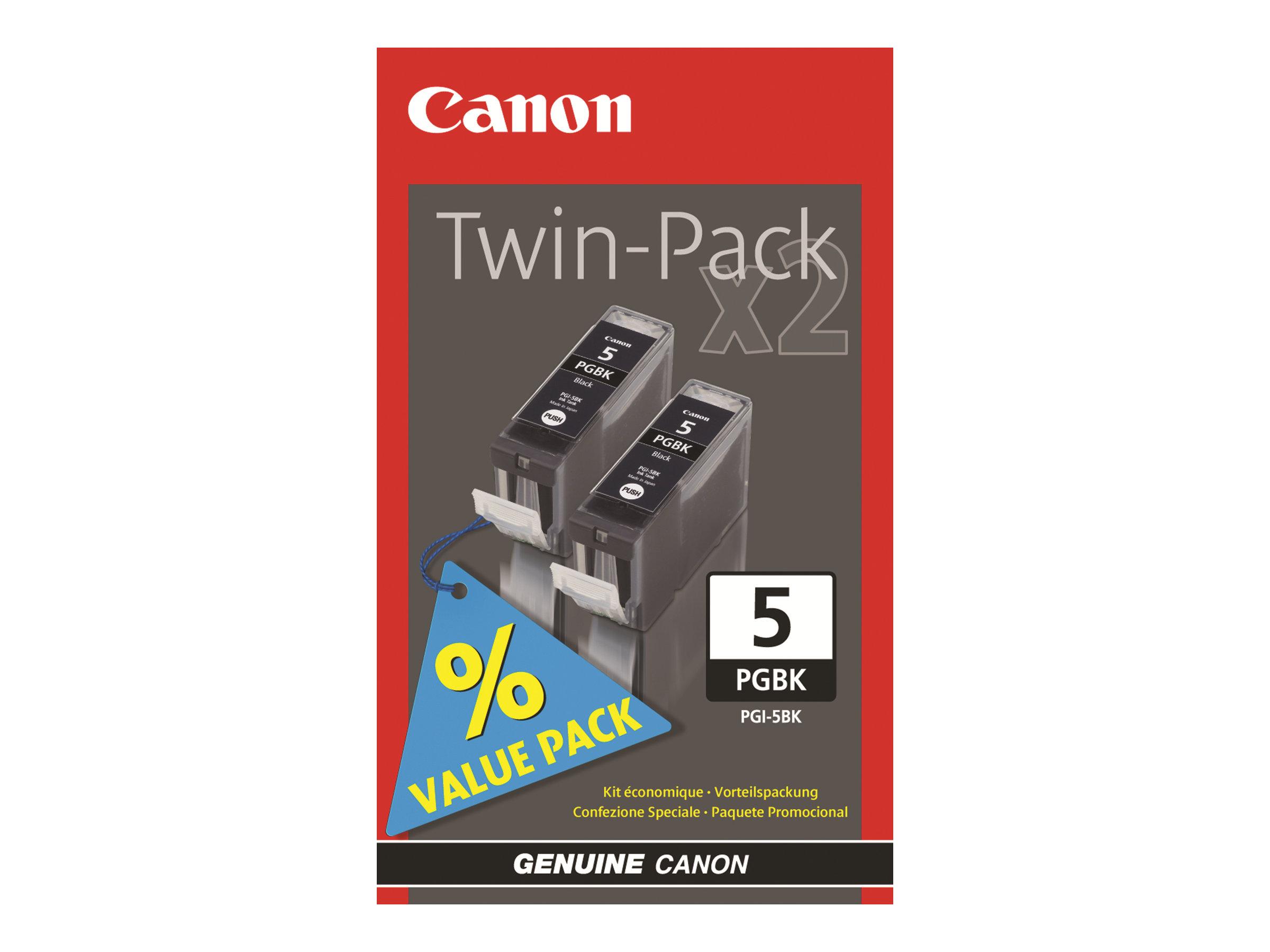Canon PGI-5 - Pack de 2 - noir - cartouche d'encre originale