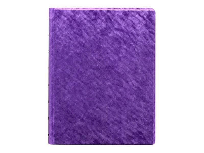Filofax Saffiano - Carnet de notes à spirale A5 - violet métallique