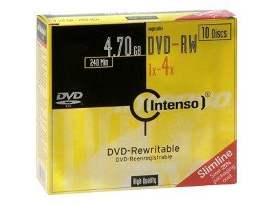 Intenso - 10 DVD-RW avec boîtiers - 4.7 Go