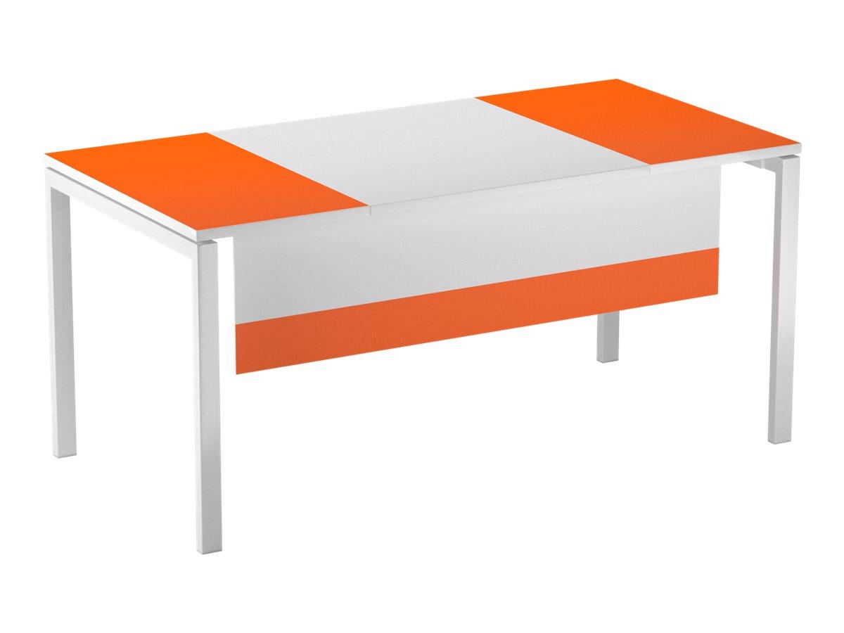 Voile de fond pour bureau EASYDESK L160cm - Blanc/orange