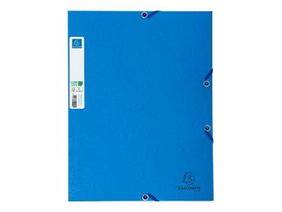 Exacompta Clean'Safe - 5 Chemises à 3 rabats - A4 - bleu