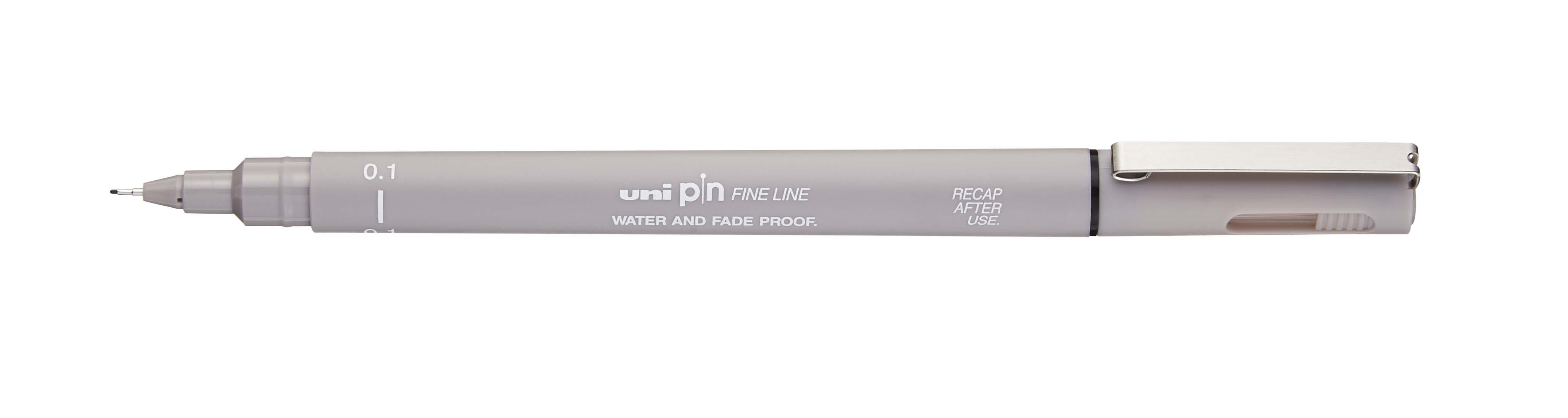 UNI PIN - Feutre fin - pointe calibrée - 0,1 mm - gris clair