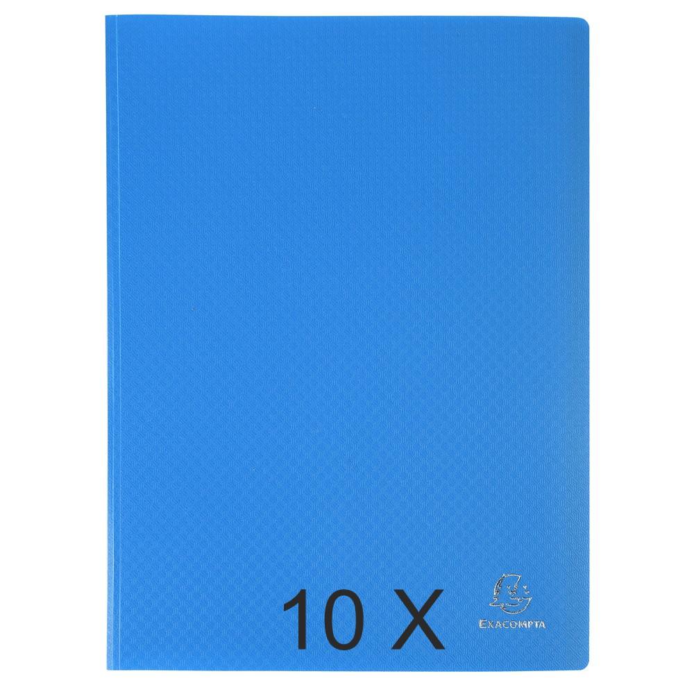 Exacompta Opak - 10 Porte vues - 80 vues - A4 - bleu clair