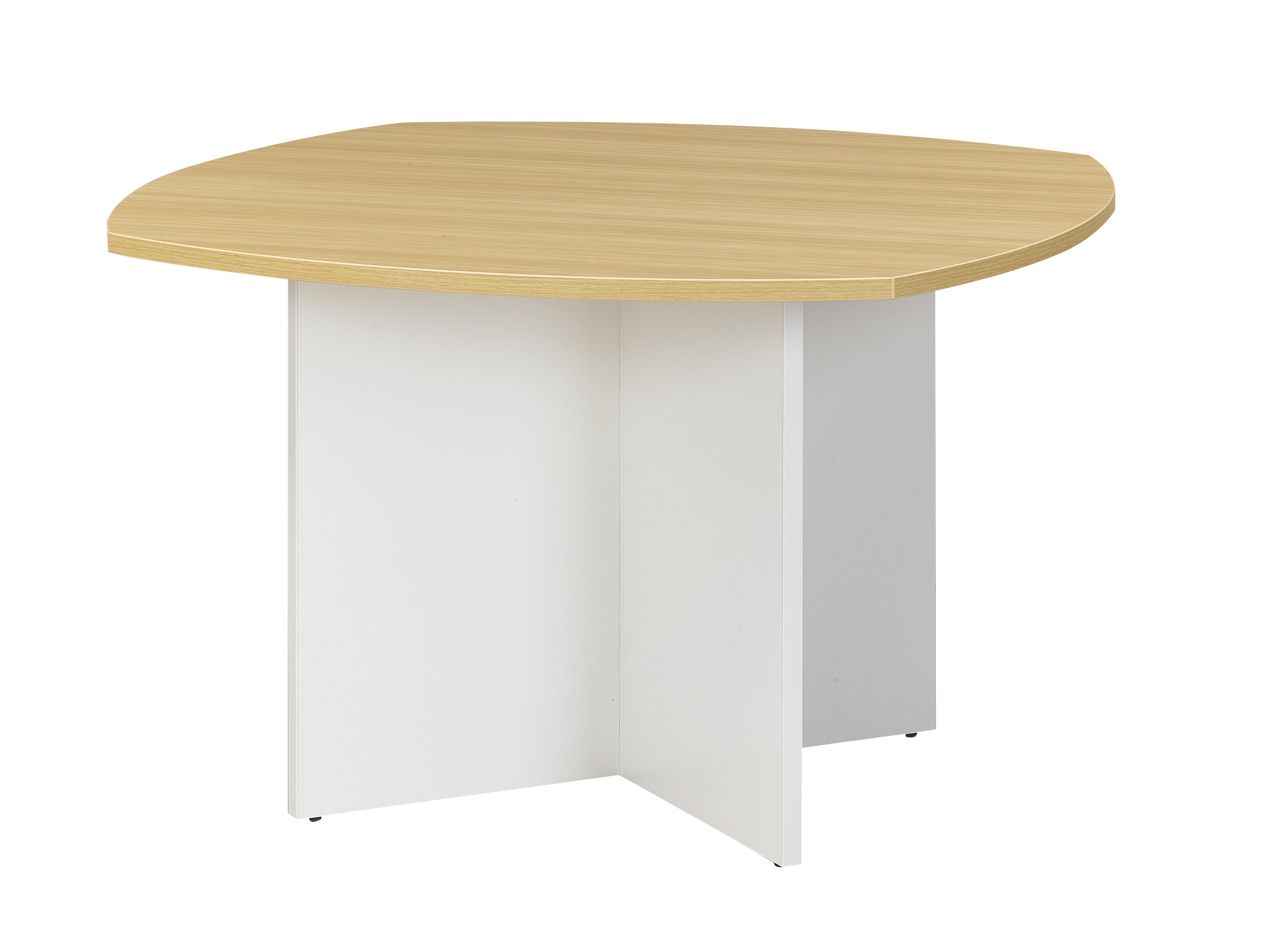 Table de réunion SUNDAY - Cotés arrondis - L115 x H74 x P115 - Chêne