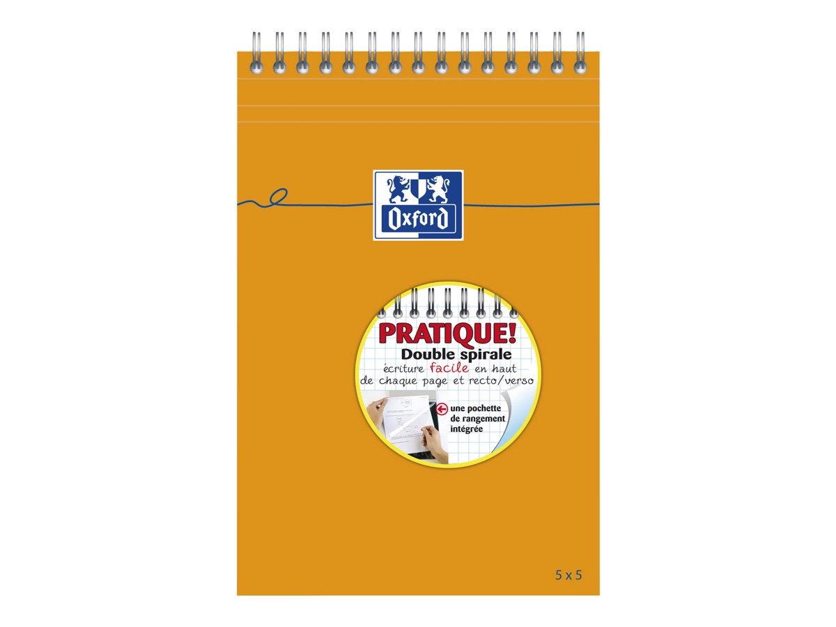 Oxford - Bloc notes - A5 - 160 pages - petits carreaux - 80G