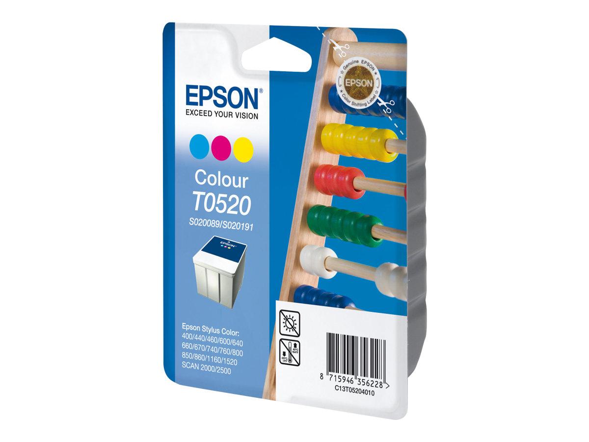 Epson T0520 Boulier - cyan, magenta, jaune - cartouche d'encre originale