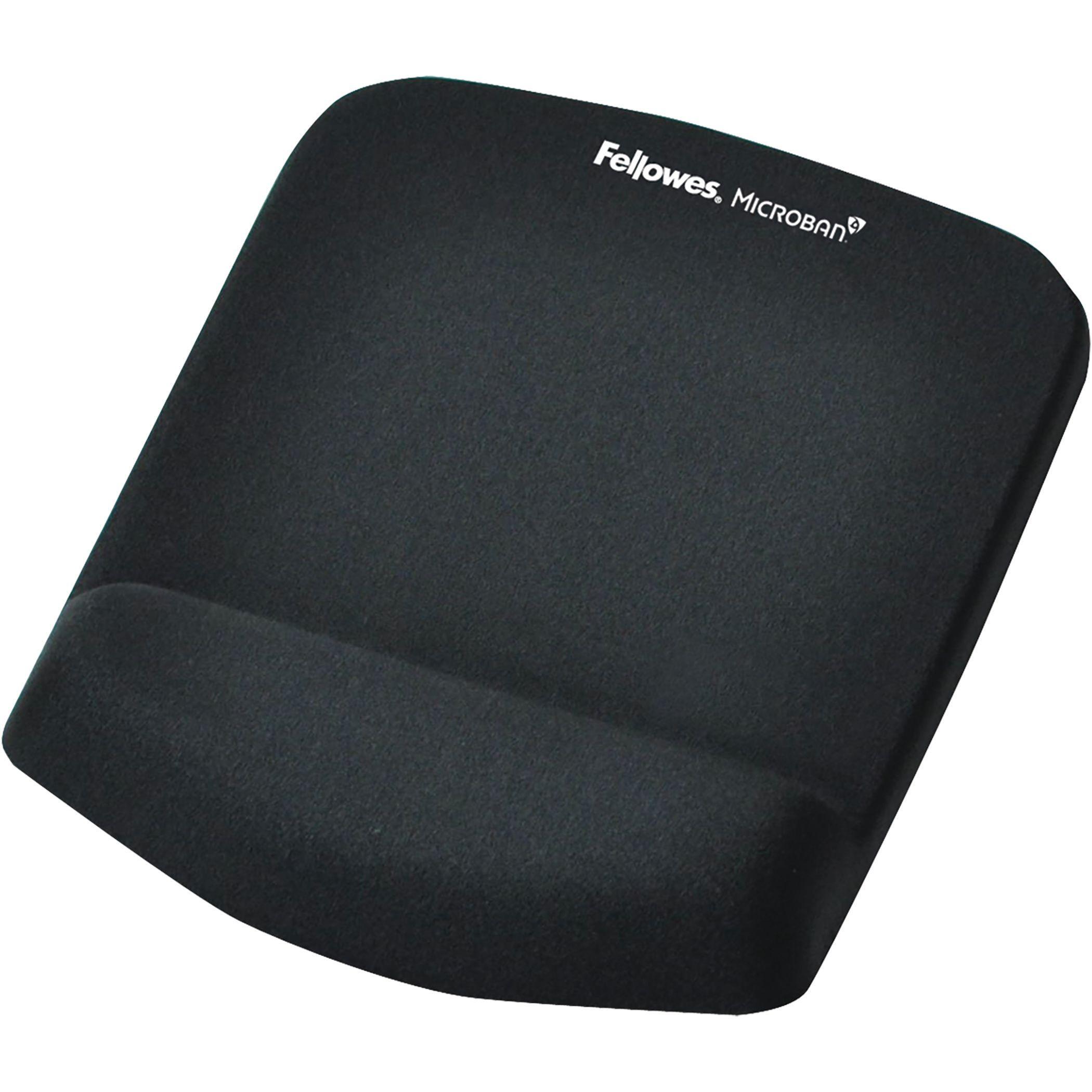 Fellowes PlushTouch - Tapis de souris / repose-poignets ergonomique - noir
