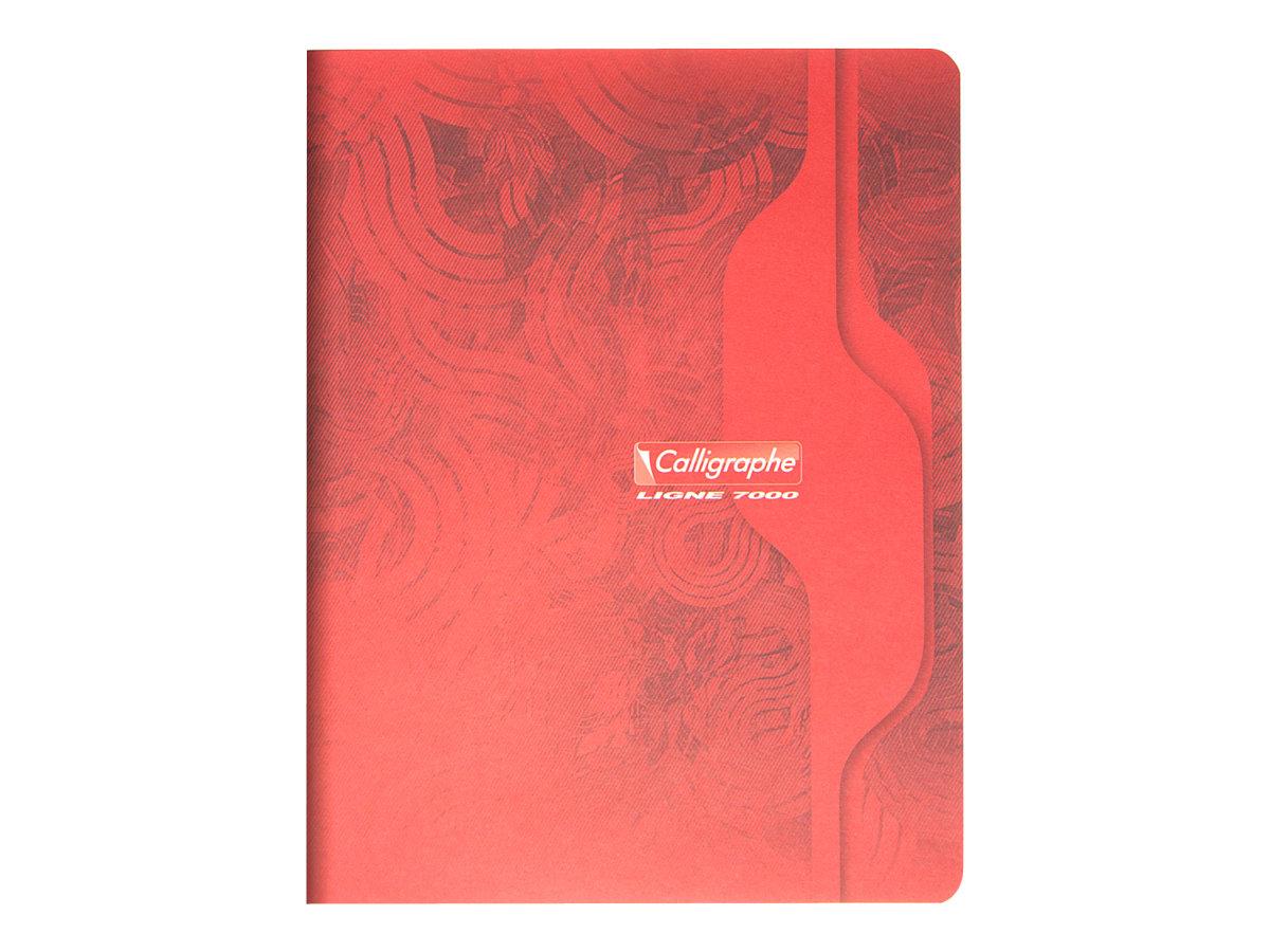 Calligraphe 7000 - Cahier 17 x 22 cm - 96 pages - grands carreaux (Seyes) - disponible dans différentes couleurs