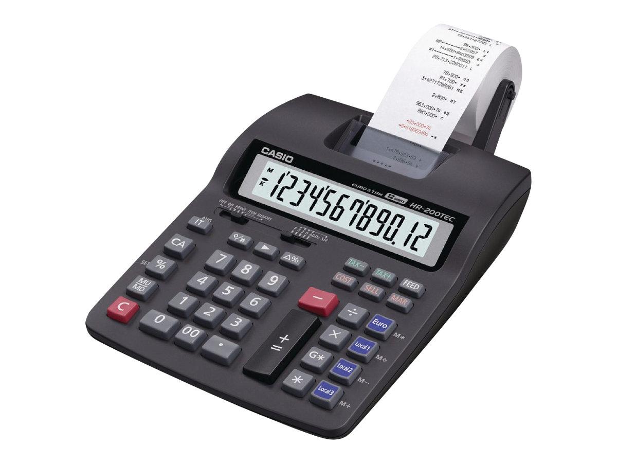 Casio HR-200TEC - Calculatrice imprimante - LCD - 12 chiffres - alimentation batterie