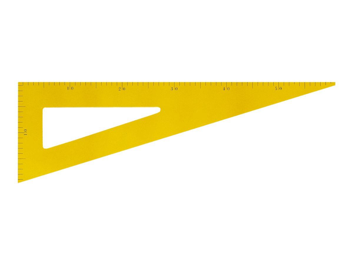 Wonday - Équerre 60 cm en bois - 30°/60° - pour tableau d'instituteur