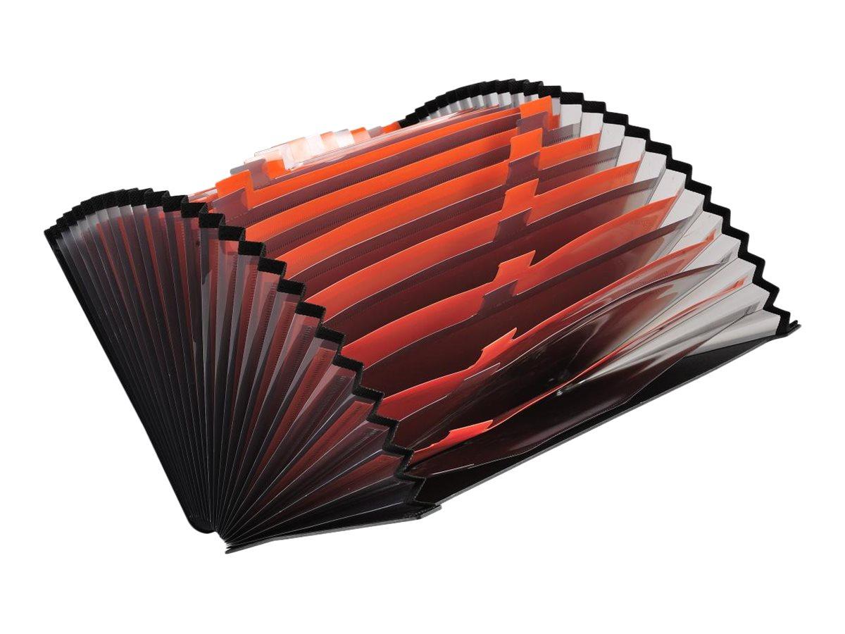 Exacompta Exactive - Classeur ménager (valisette trieur) 24 onglets - noir