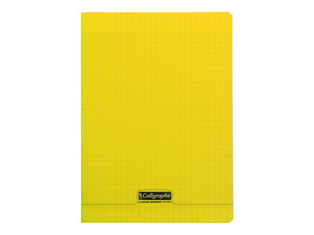Calligraphe 8000 - Cahier polypro A4 (21x29,7 cm) - 96 pages - grands carreaux (Seyes) - jaune