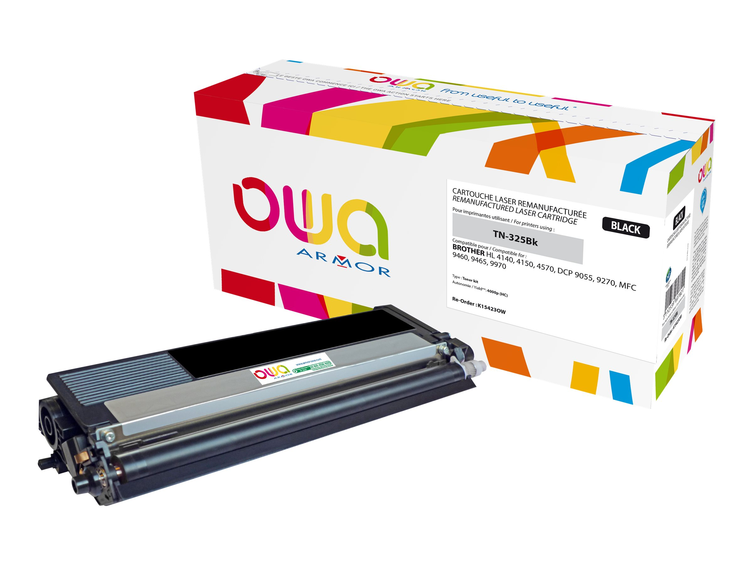 Brother TN325 - remanufacturé Owa K15423OW - noir - cartouche laser