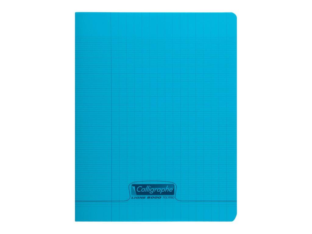 Calligraphe 8000 - Cahier polypro 17 x 22 cm - 96 pages - grands carreaux (Seyes) - bleu