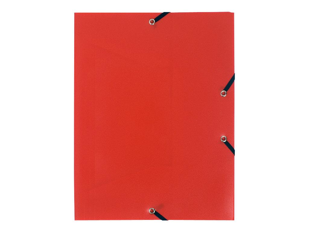 Exacompta - Chemise polypro à rabats - A4 - pour 150 feuilles - rouge