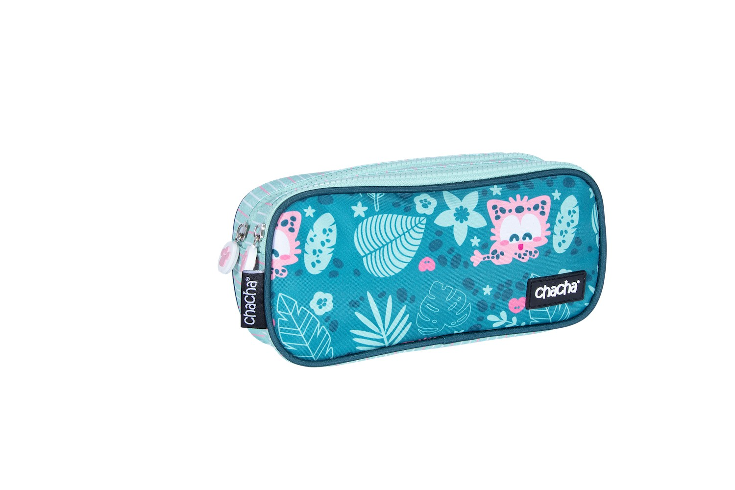 Trousse rectangulaire CHACHA Wild - 2 compartiments - vert - Kid'Abord