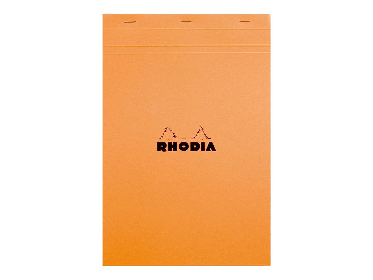Rhodia - Pack de 5 Blocs notes - A4 + - 80 pages - petits carreaux - 80g - orange