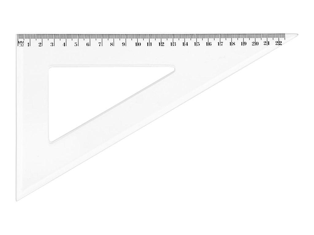 Wonday - Équerre plastique 22 cm - 30°/60°