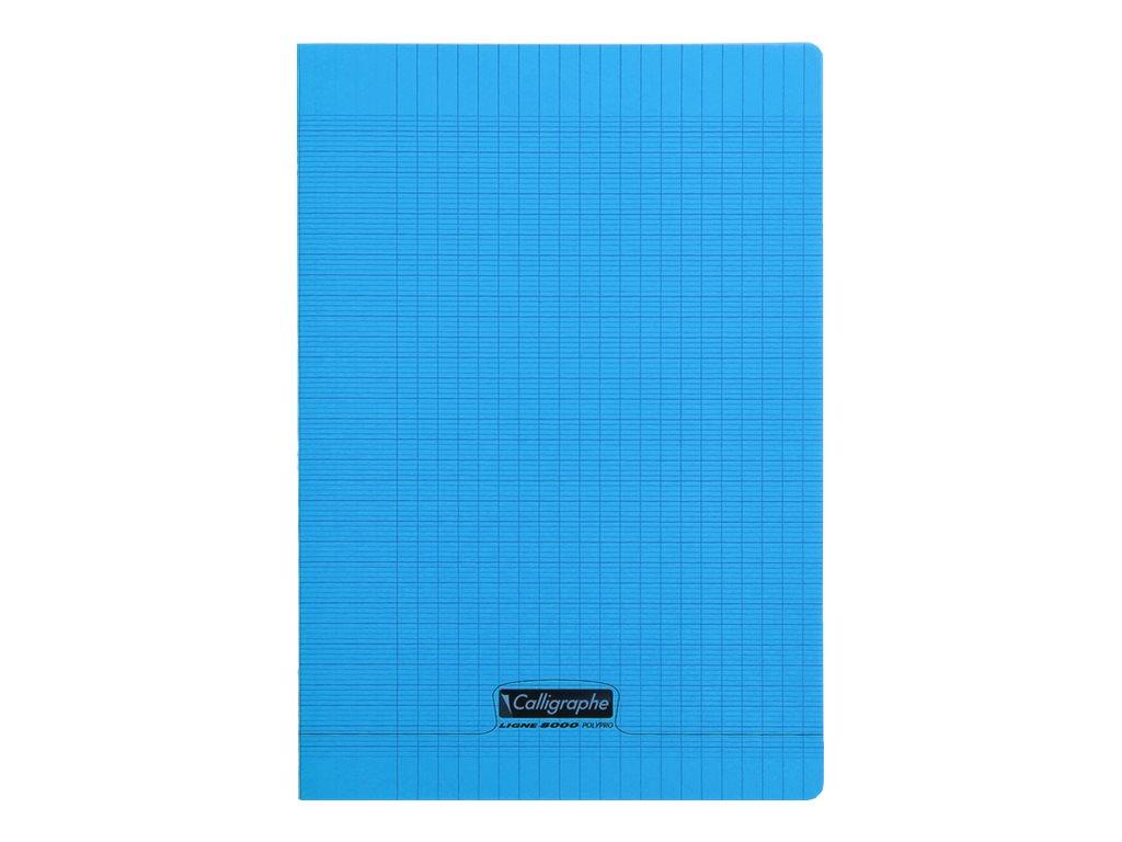 Calligraphe 8000 - Cahier polypro A4 (21x29,7 cm) - 96 pages - grands carreaux (Seyes) - bleu