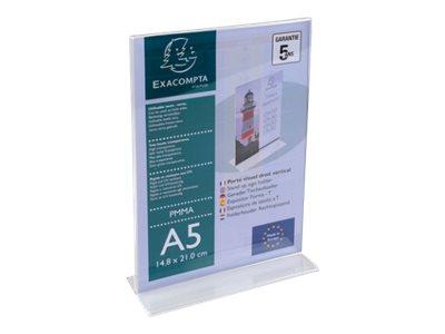 Exacompta - Présentoir porte-visuel droit - A5 vertical
