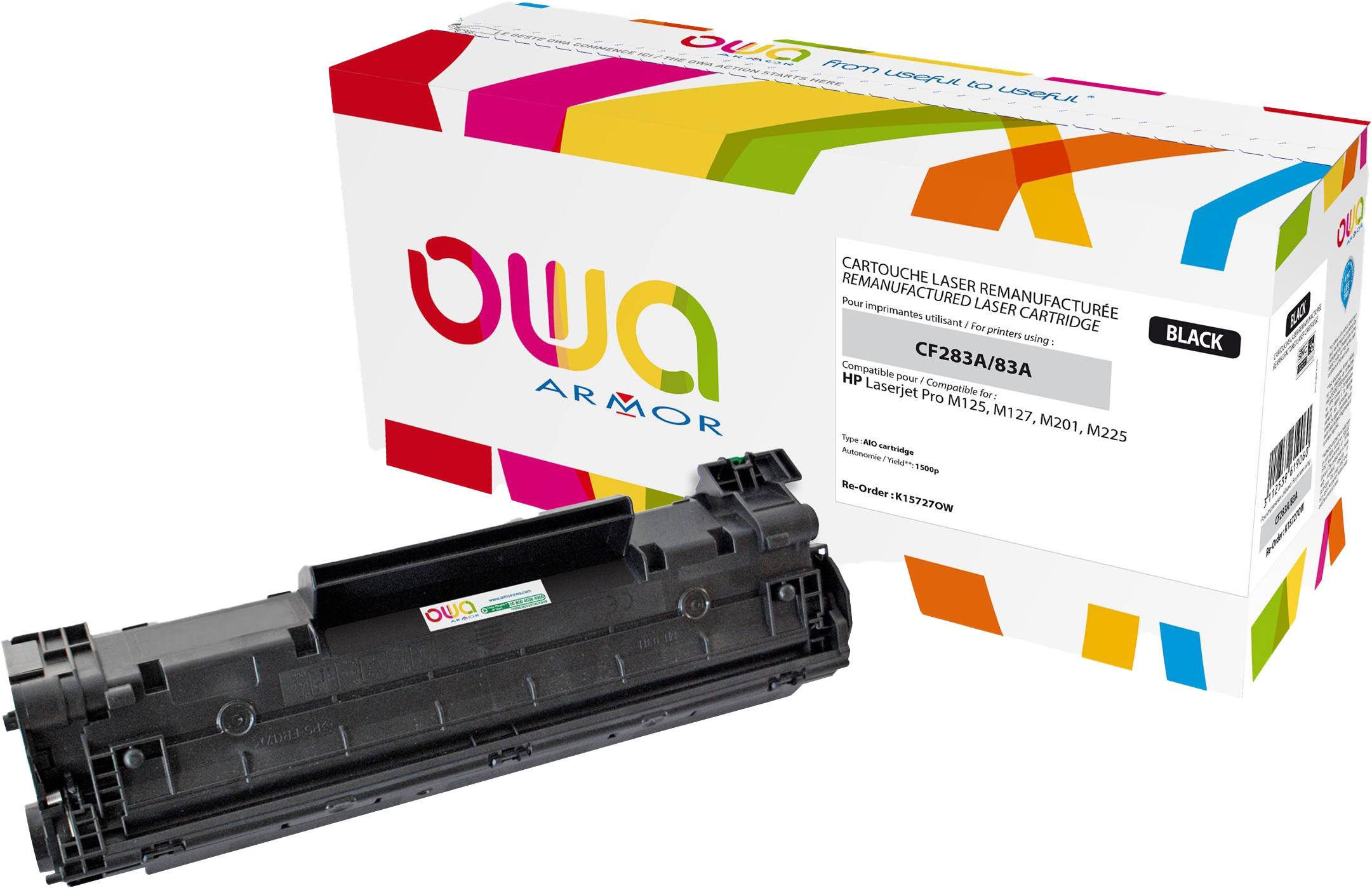 Owa K15727OW cartouche équivalente HP 83A - noir
