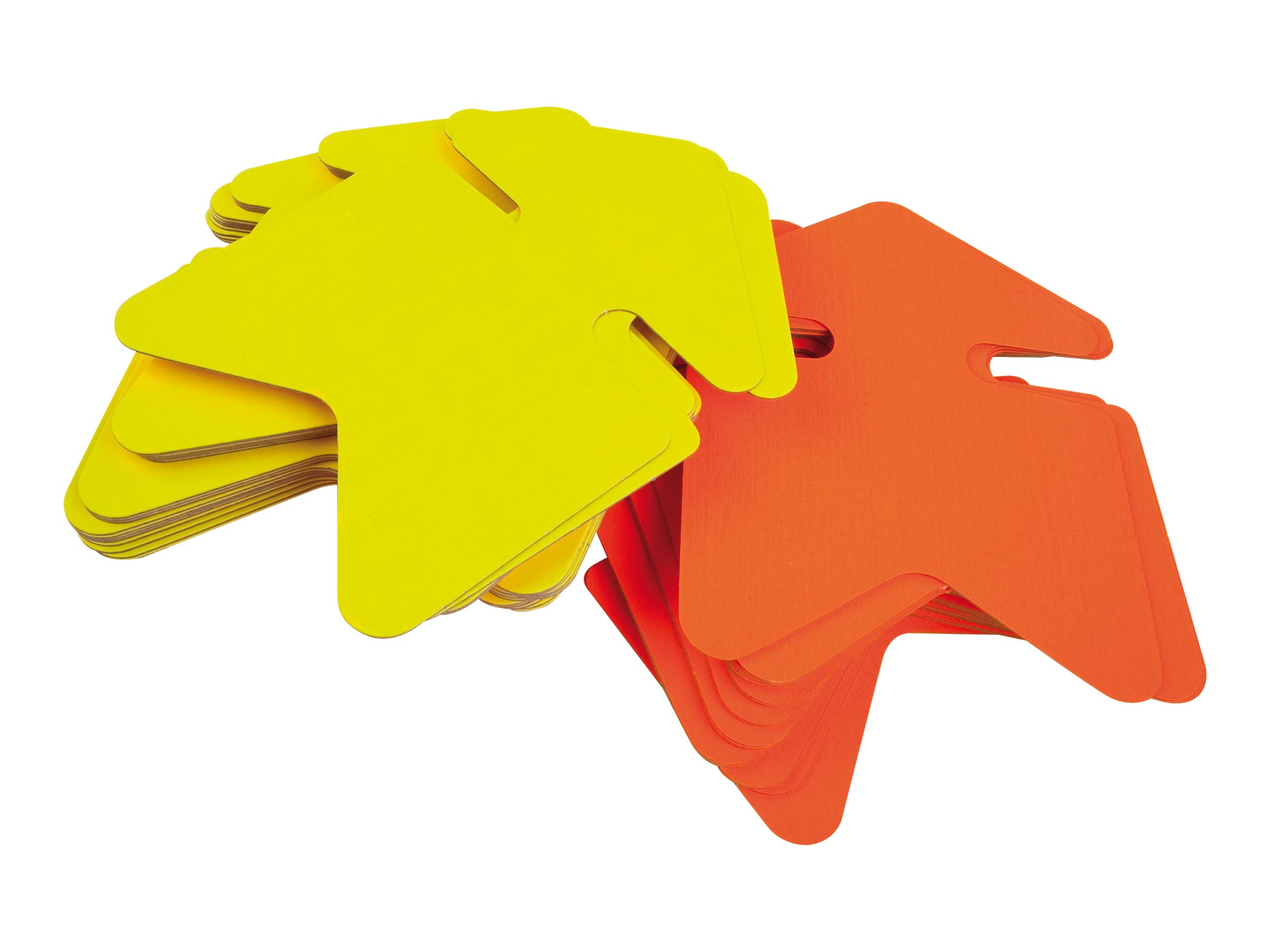 Apli Agipa - 10 flèches fluo non effaçables - jaune/orange - 32 x 48 cm