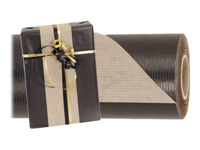 Logistipack - Papier cadeau kraft - 70 cm x 40 m - 60 g/m² - noir