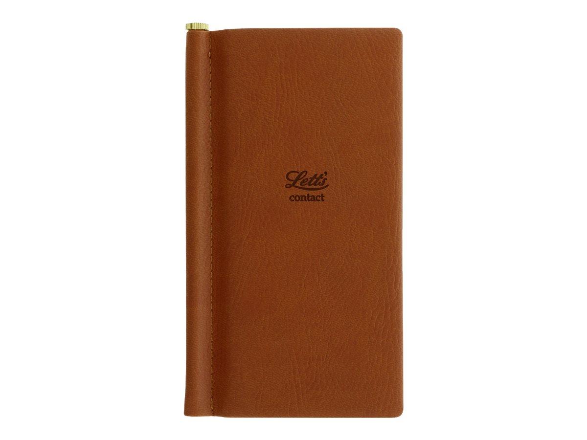 Letts Origins - Répertoire Carnet d'adresses de poche - camel - 6,9 x 14,7 cm