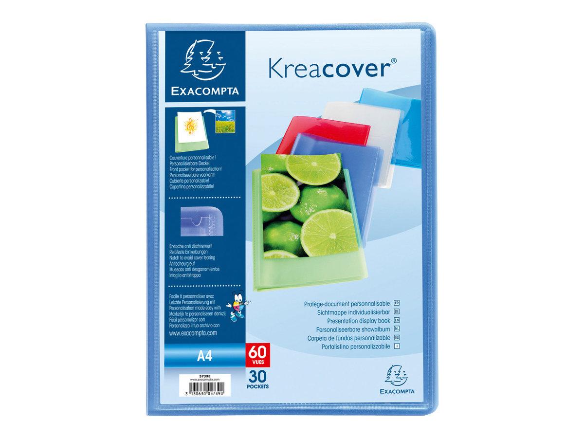 Exacompta KreaCover - Porte vues personnalisable - 40 vues - A4 - disponible dans différentes couleurs
