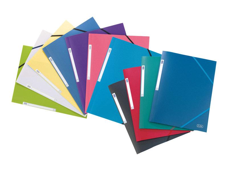 Memphis - Chemise polypro à rabats - A4 - disponible dans différentes couleurs