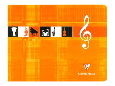 Clairefontaine - Cahier de musique 17 x 22 cm - format à l'italienne - 48 pages