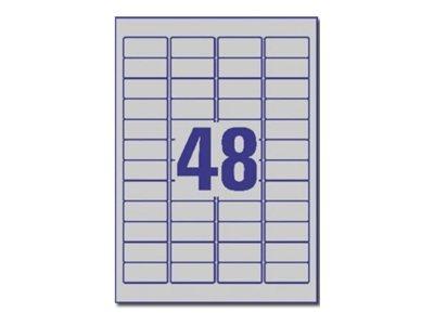 Avery - 960 Étiquettes ultra résistantes métalliques - 45,7 x 21,2 mm - Impression laser - réf L6009-20
