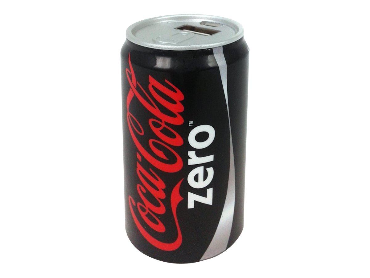 Urban Factory Coca-Cola Zero - powerbank / batterie de secours rechargeable pour smartphone - 2000 mAh