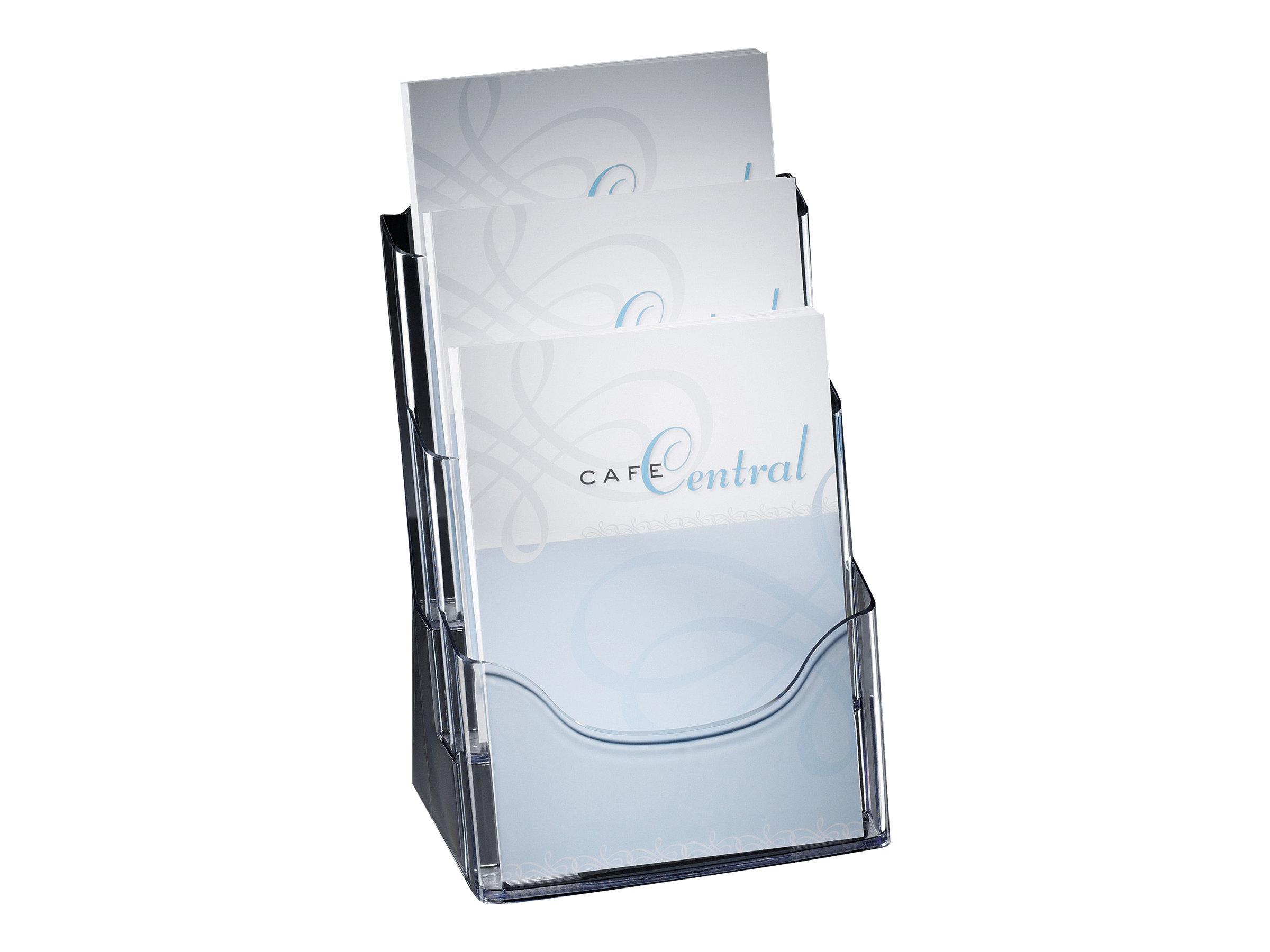 Sigel - Porte-brochures A4 - 3 compartiments