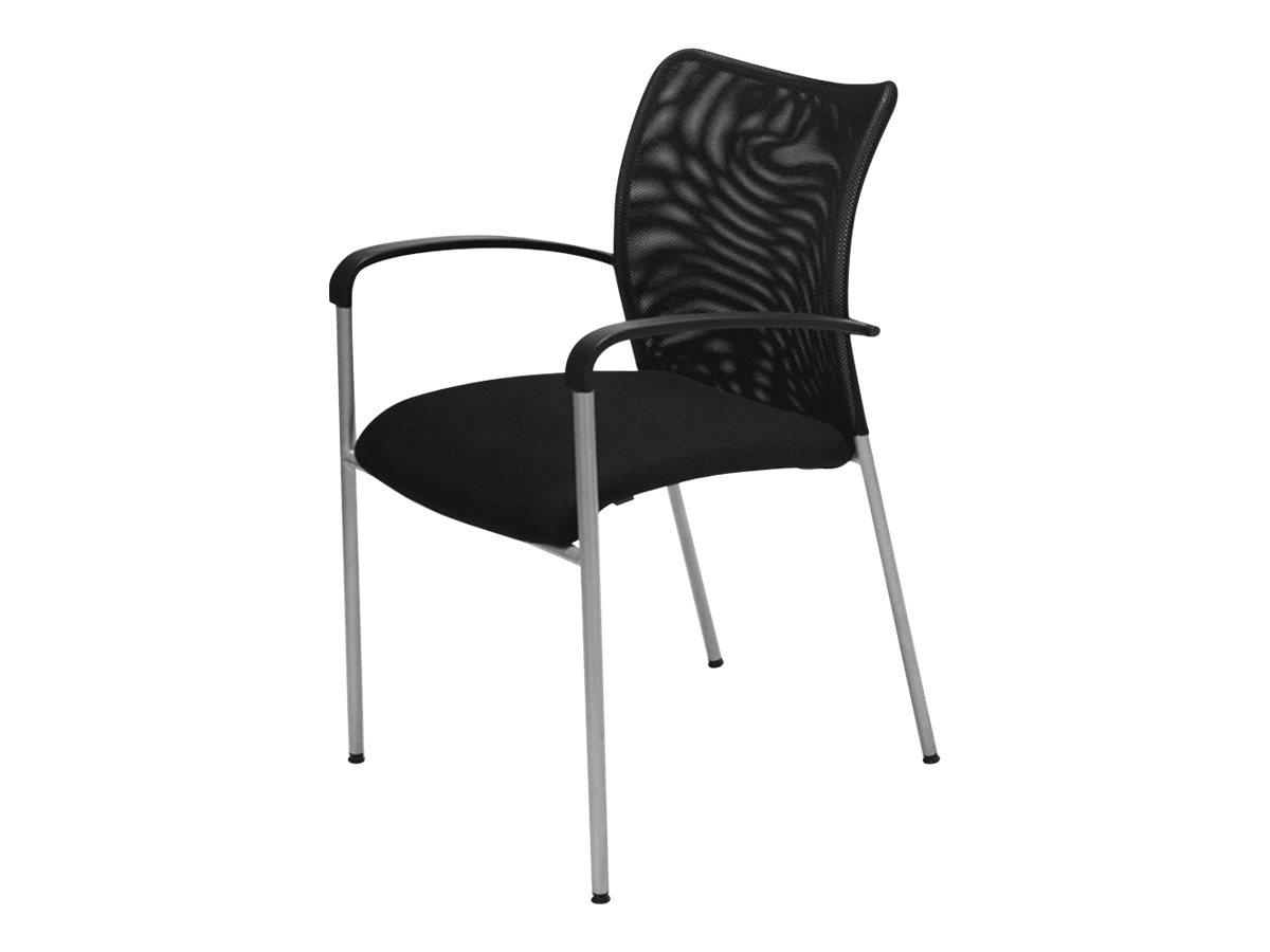 Chaise JULIA - avec accoudoirs - assise et dossier noir