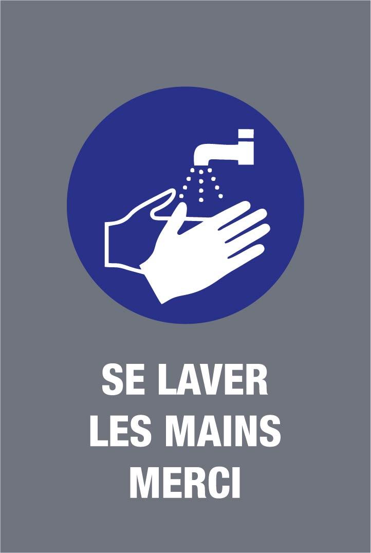 Novus Dahle - Tapis de distanciation sociale -  lavage main - 60 x 90 cm -  gris bleu