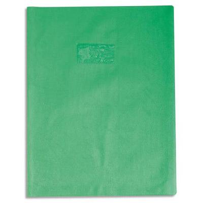 Calligraphe - Protège cahier sans rabat - 24 x 32 cm - grain cuir - vert