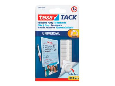 Tesa Tack - 80 pastilles adhésives blanches - double face