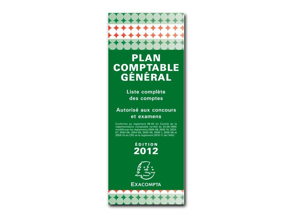 Exacompta - Plan comptable général - 8,5 x 18 cm - en accordéon