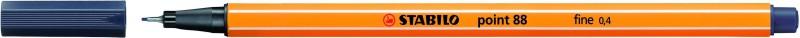 STABILO point 88 - Feutre fin - 0.4 mm - gris de payne