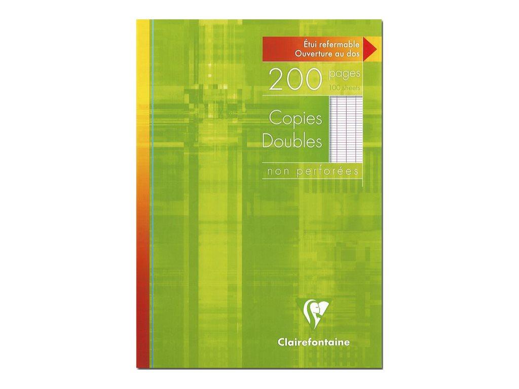 Clairefontaine - 200 copies doubles A4 - grands carreaux (Seyes) - non perforées