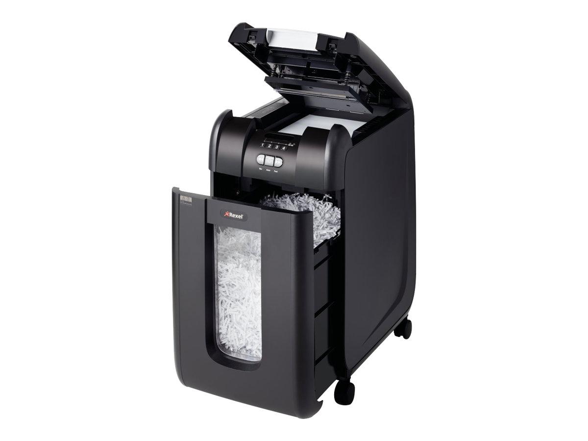 Rexel Auto+ 300X - destructeur de documents coupe croisée - 300 feuilles - Corbeille 40 litres