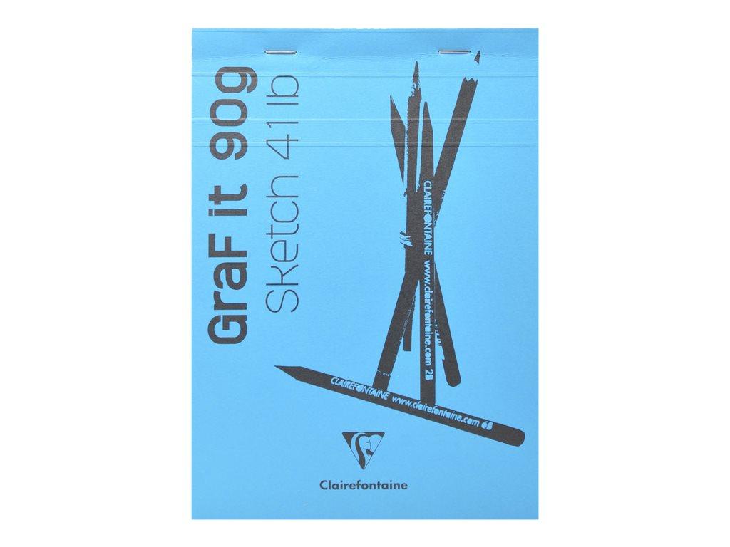 Clairefontaine Graf It - Bloc dessin - 80 feuilles - A6 - 90 gr - blanc