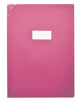 Oxford Strong Line - Protège cahier sans rabat - A4 (21x29,7 cm) - rose opaque