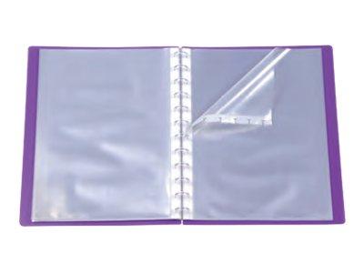 Viquel Propyglass Geode - Porte vues personnalisable à pochettes repositionnables - 60 vues - A4 - disponible dans différentes couleurs