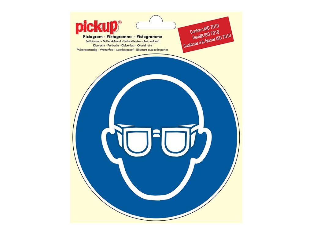 Pickup - Pictogramme rond - Lunettes de protection obligatoires - 150 mm