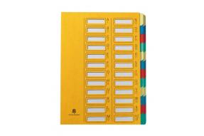 Extendos - Trieur alphanumérique 24 positions - jaune